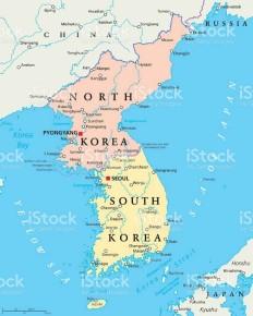 mappa corea small